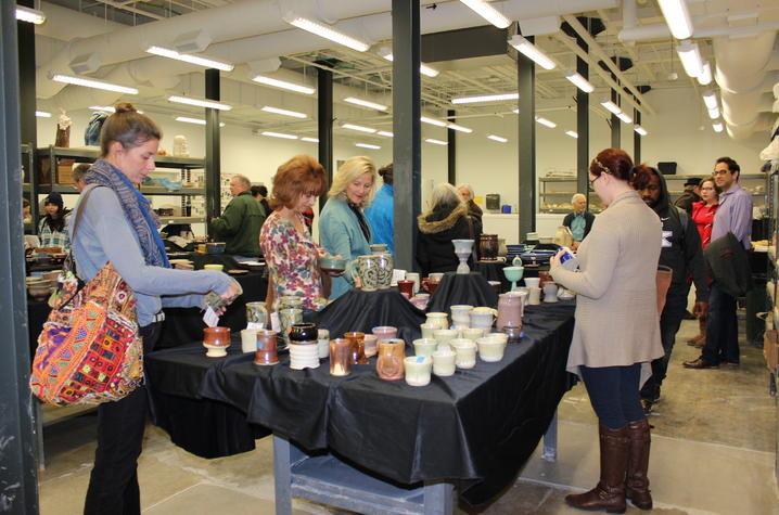 photo of ceramics sale - Open Studio 2015