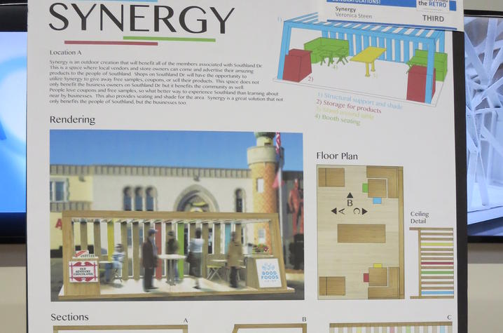 """photo of Veronica Steen's """"Synergy"""" proposal for Southland"""
