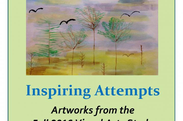 """Inspiring Attempts"" exhibition poster"