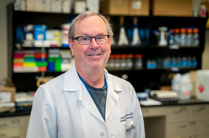 Thanks to early coordination by Jerry Woodward, UK was among the first universities in the U.S. to create COVID-19 ELISA antibody tests. Photo by Ben Corwin, Research Communications.