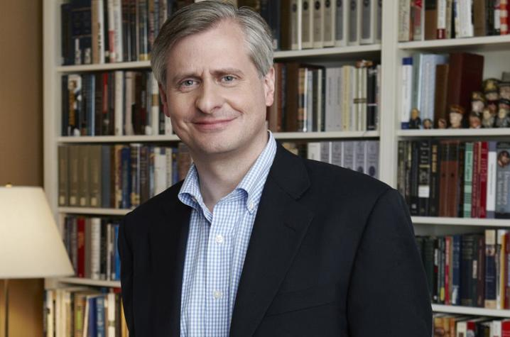 photo of Jon Meacham in front of bookcase