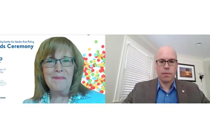 screenshot of Dr. Ellen Hahn and Dr. Steven Stack