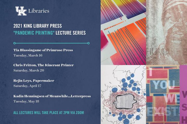 """photo of postcard for King Library Press """"Pandemic Printing"""" series"""