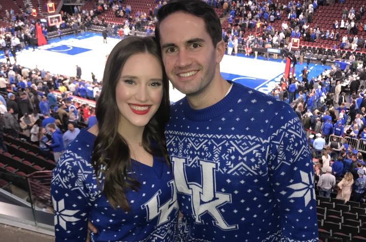Krista Robertson wears the UK logo with pride.