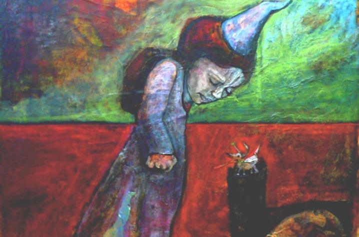 """photo of painting """"No One's Little Princess Anymore"""" by Christine Kuhn"""