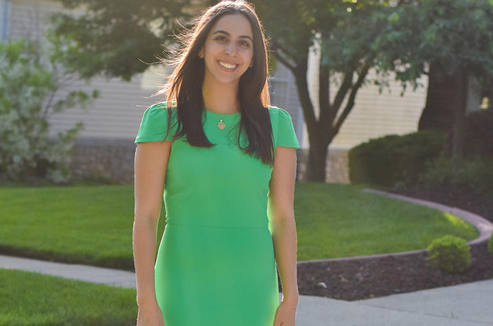photo of Dealla Samadi in green dress
