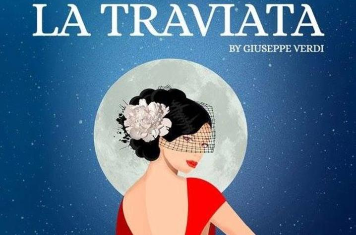 "poster art for ""La Traviata"""