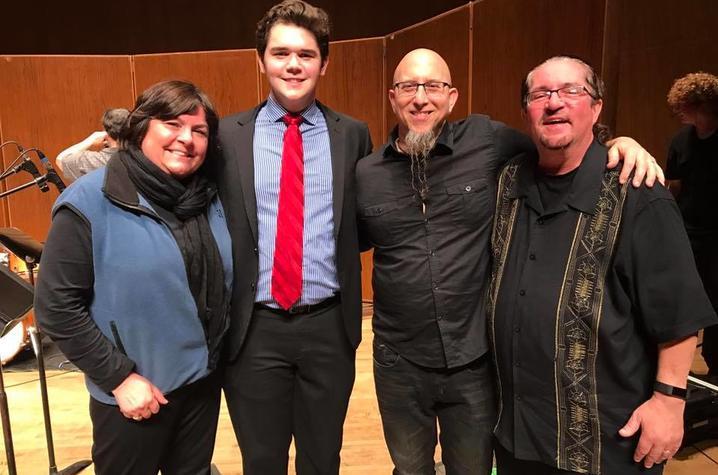 photo of Lisa Osland, Kirby Davis, Jeff Coffin & Miles Osland