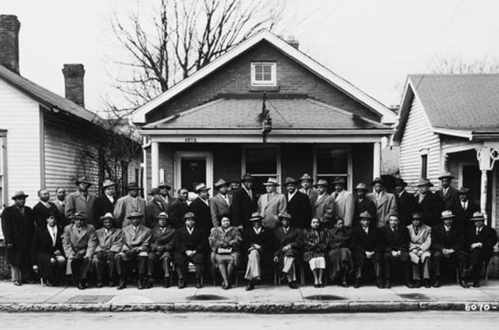 1949 black and white photo of members of Mammoth Life Insurance Company