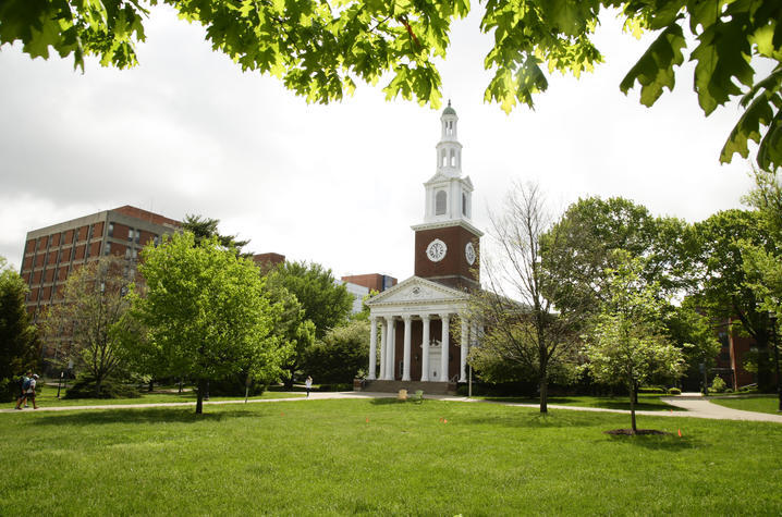 photo of Memorial Hall in spring