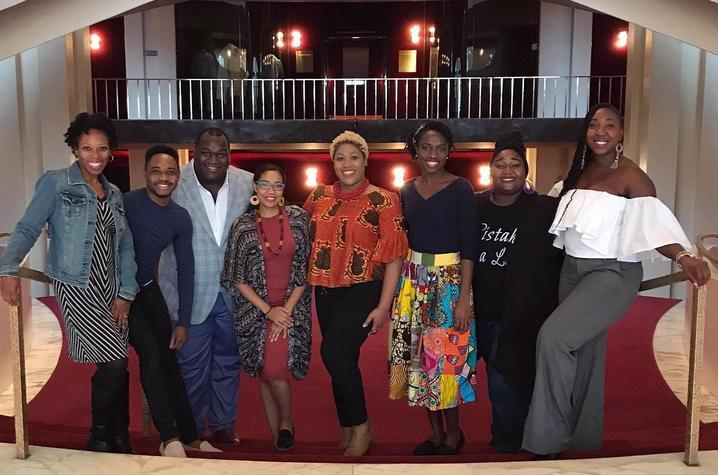 photo of 7 UK Opera Theatre alums and doctoral student Makeda Hampton at the Met