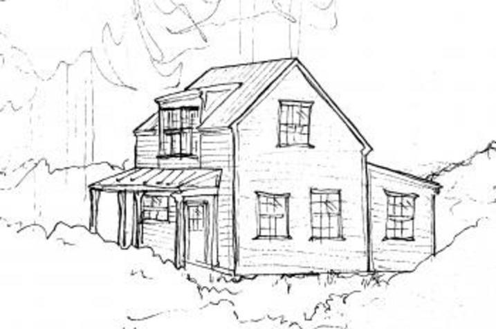 Artist's rendering of Mill House at Glendower, the setting for new UK creative writing residency program