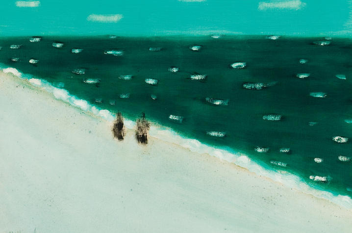 """photo of painting """"Green Sea"""" by Milton Avery"""