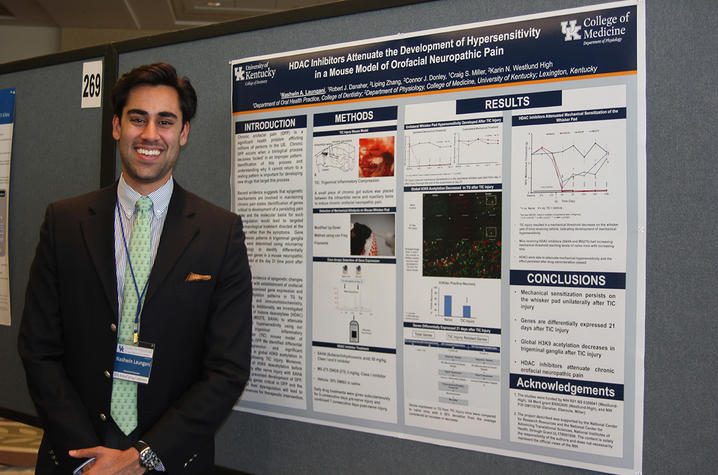 Research Track participant and third-year UKCD student Nash Laungani