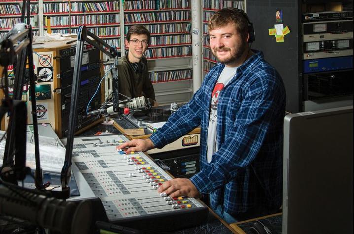 Photo of DJs in WRFL studio