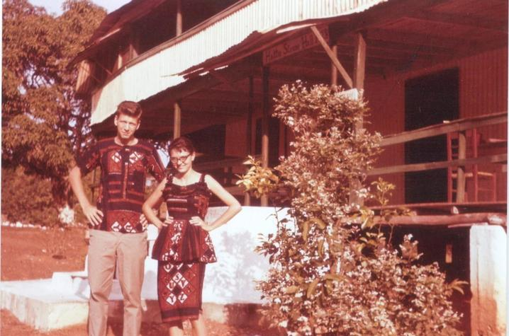 photo of Jack and Angene Wilson serving in the Peace Corps