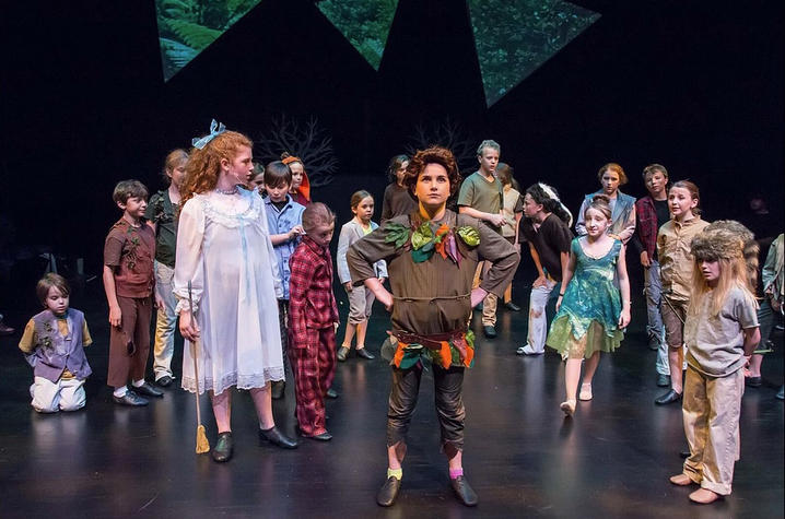 "photo of ACE production of ""Peter Pan JR."""