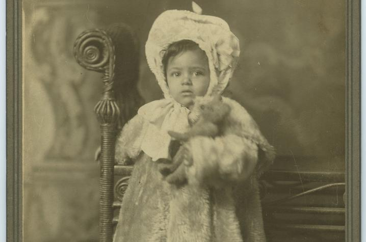 photo of unidentified child from Sally Price family papers