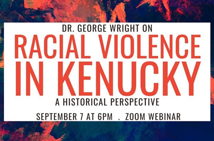 "photo of eventbrite banner for ""Racial Violence in Kentucky"" webinar"