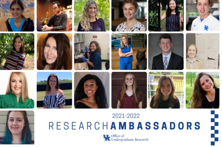 2021-2022 UK Undergraduate Research Ambassadors.