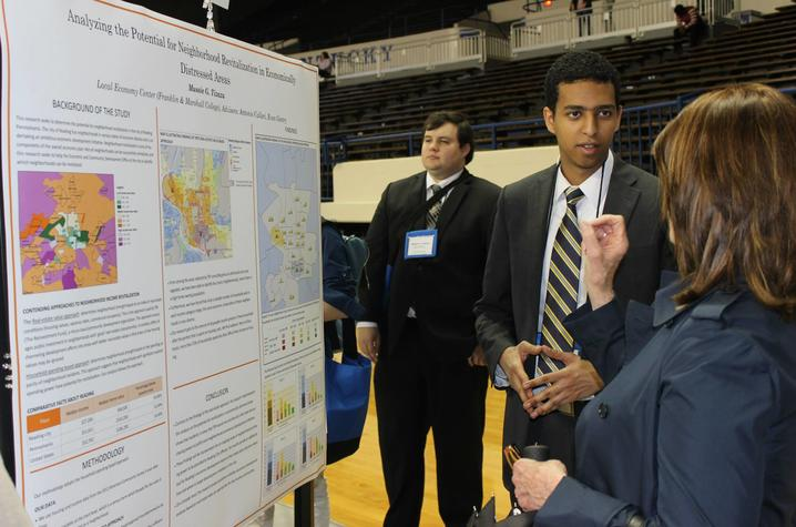 photo of poster presentation at NCUR
