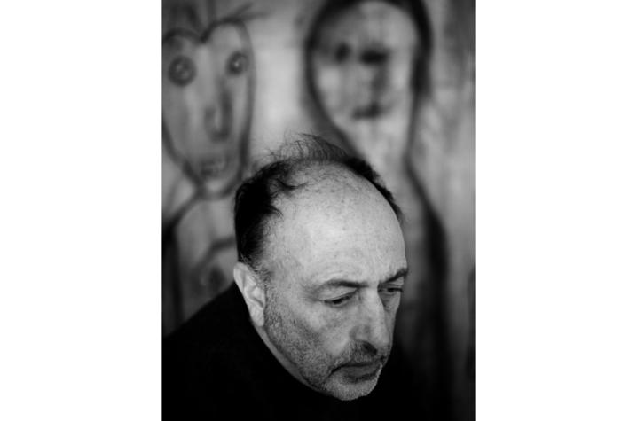 black and white headshot photo of Roger Ballen by Marguerite Rossouw