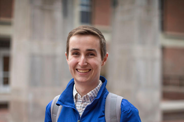 This is a photo of Bradley Wilson, a UK Junior and Family Relations Chair for DanceBlue