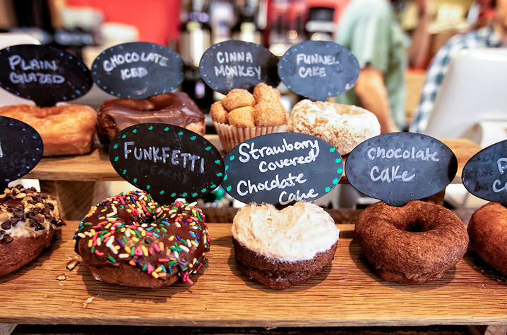This is a photo of donuts at North Lime Coffee and Donuts.