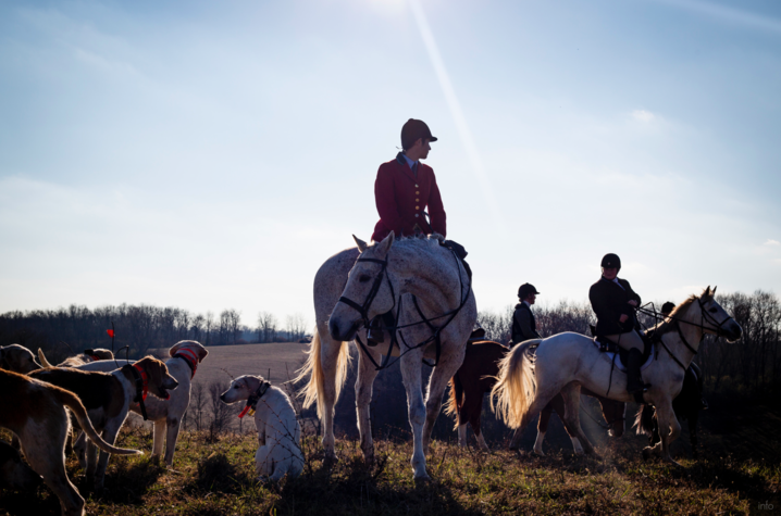Hearst Awards portfolio submissions from UK students Michael Clubb and Arden Barnes included these images of UK football players by Clubb and one from a story about a fox hunting club by Barnes.