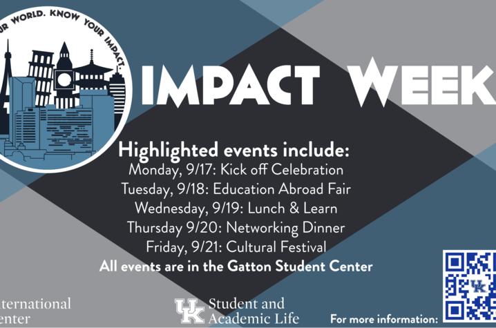 Impact Week Schedule