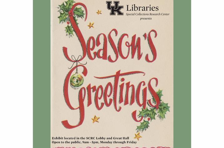 "photo of ""Season's Greetings"" poster"
