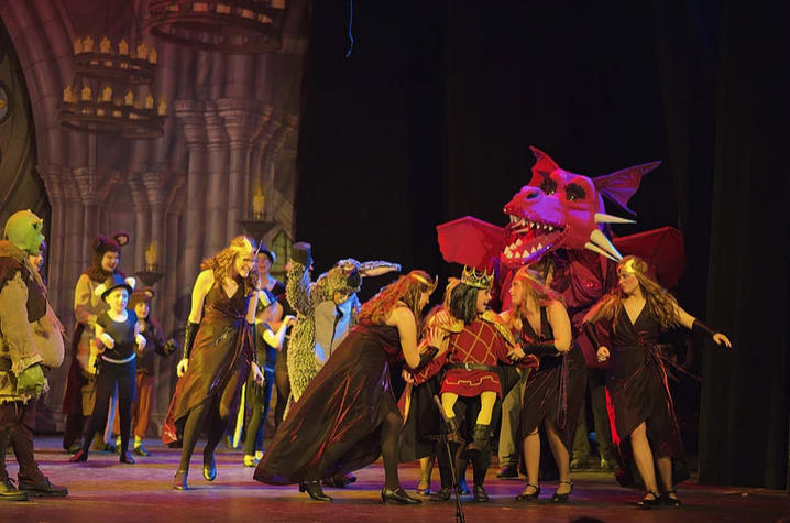 "photo of ACE production of ""Shrek The Musical JR."""