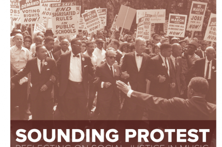 "photo of ""Sounding Protest"" poster"