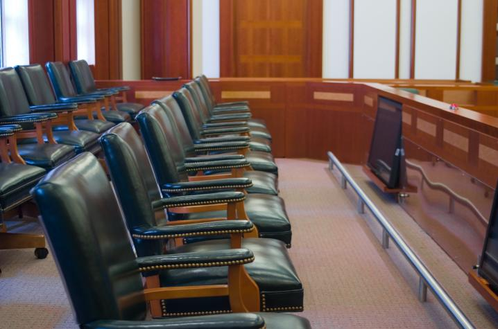 Photo of jury box