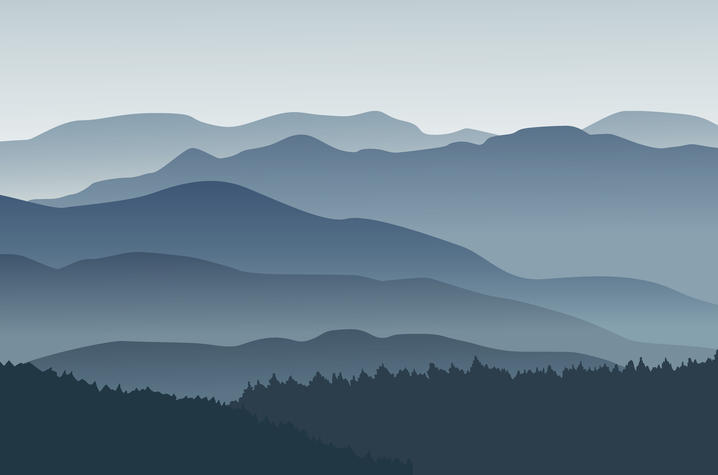 Blue Mountains in Fog