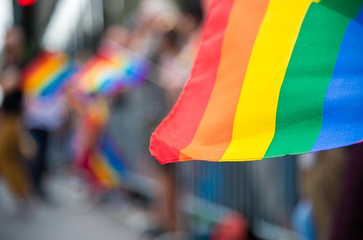 photo of rainbow flag