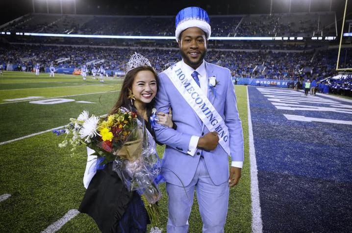 photo of Homecoming Queen Tiana Thé and Homecoming King Juwan Page