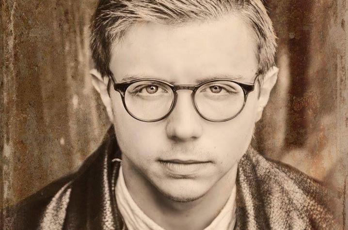 black and white headshot photo of Treyton Blackburn