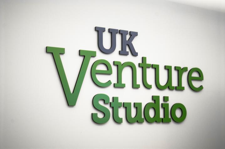 photo of UK Venture Studio signage