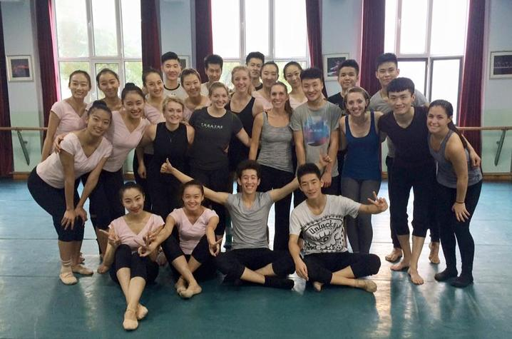 photo of group from UK Dance Program visit to Inner Mongolia University