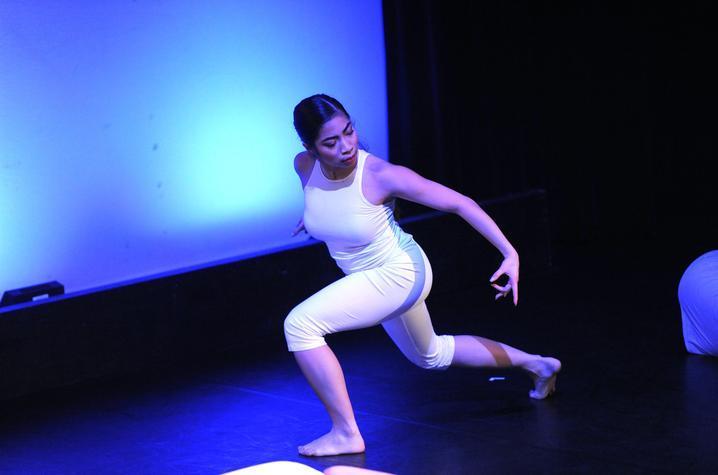 photo of Sylvannah Reglado dancing