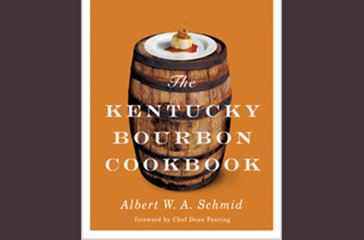"photo of cover of ""The Kentucky Bourbon Cookbook"" by Albert W.A. Schmid"