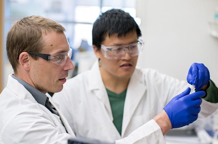 Steven Van Lanen and student