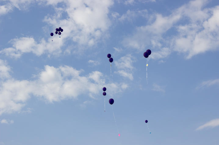 Photo of balloons in the sky
