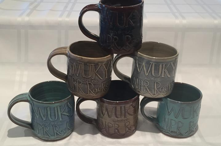 "photo of mugs that say ""WUKY where NPR Rocks"""
