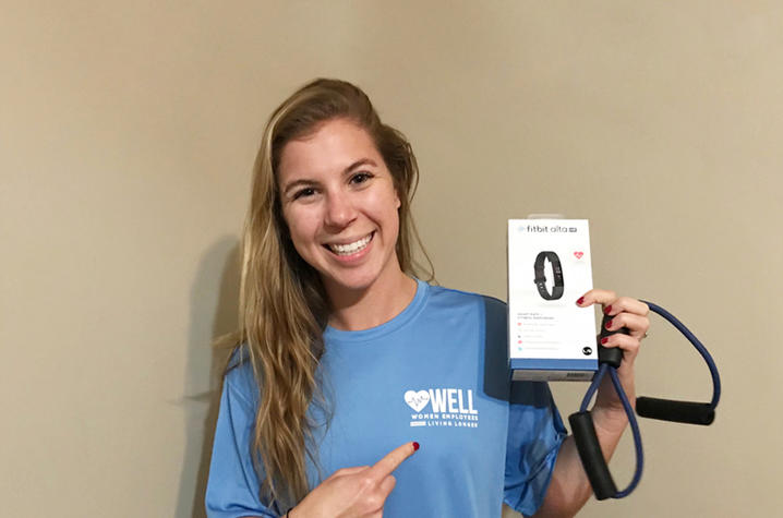 Photo of Anna Buchanan with fitbit