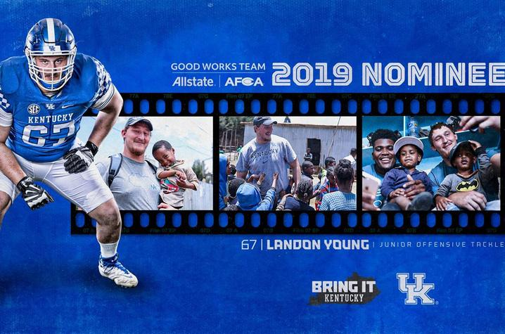 Landon Young has been nominated for 2019 AFCA award.