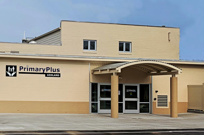 photo of the exterior of PrimaryPlus-Ashland clinic