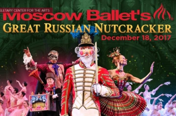 "photo of Moscow Ballet's ""Great Russian Nutcracker"" banner"