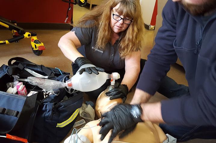 Photo of paramedic training